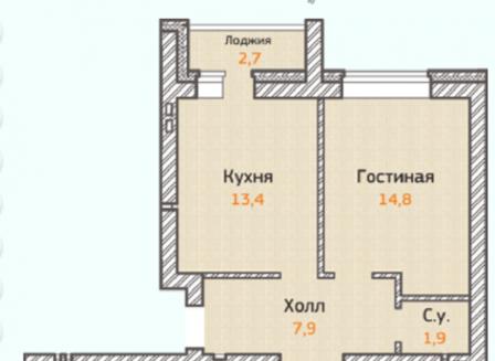 4-комнатная квартира, 102.20-Кв.м.
