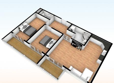 3-комнатная квартира, 74.67-Кв.м.