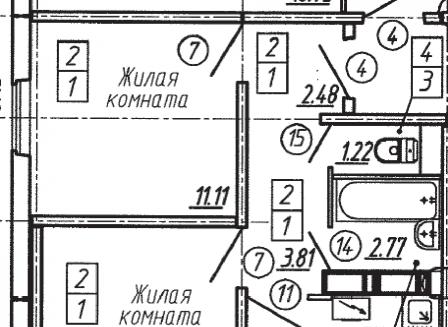 2-комнатная квартира, 49.71-Кв.м.