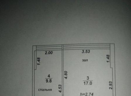 2-комнатная квартира, 39.00-Кв.м.