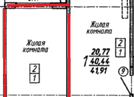 2-комнатная квартира, 64.88-Кв.м.