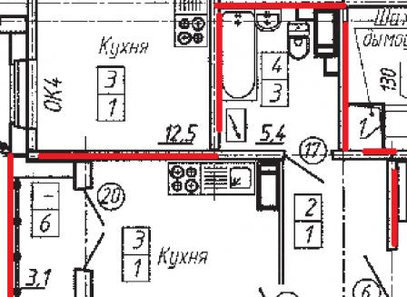 1-комнатная квартира, 42.20-Кв.м.