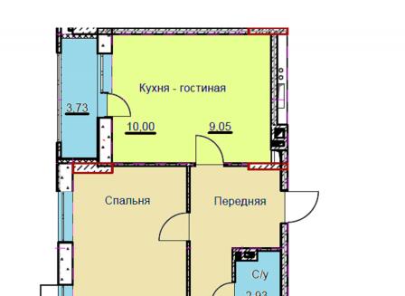 4-комнатная квартира, 94.47-Кв.м.