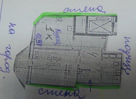 1-комнатная квартира, 42.62-Кв.м.