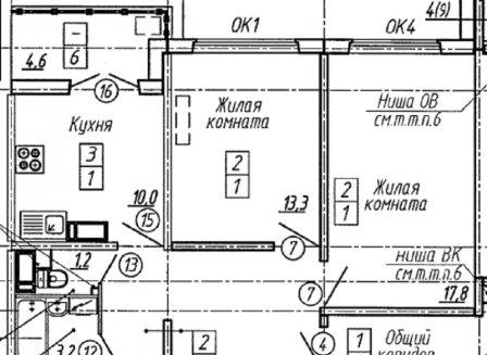 3-комнатная квартира, 78.30-Кв.м.