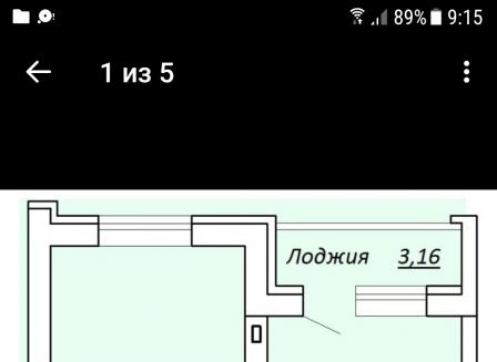 1-комнатная квартира, 41.00-Кв.м.