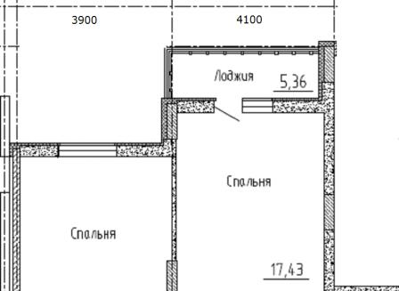 3-комнатная квартира, 89.55-Кв.м.